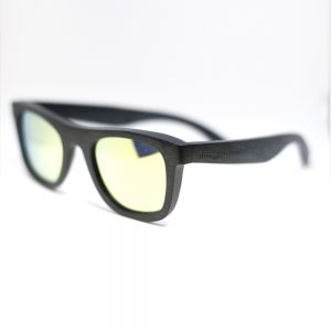 black wood frame sunglasses by Junglewood rino style