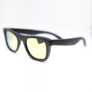 black wood frame sunglasses by Junglewood rino style