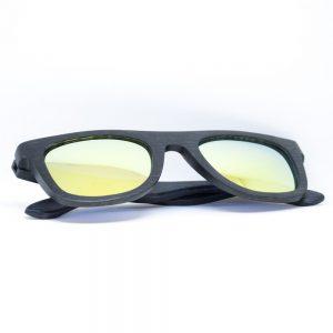black wood frame sunglasses by Junglewood